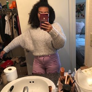 Urban Outfitters grey fuzzy sweater